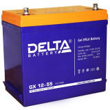 Тяговый аккумулятор DELTA GX 12-55 55Ah