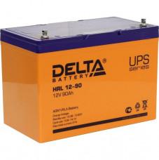 Стационарный аккумулятор DELTA HRL 12-90 90Ah