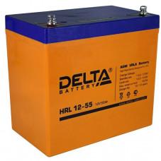 Стационарный аккумулятор DELTA HRL 12-55 55Ah