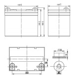 Стационарный аккумулятор Ventura HRL 12210W 52.5Ah