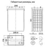 Тяговый аккумулятор VENTURA VTG 12 245 324Ah